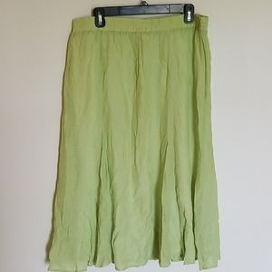 Christopher & Banks Lime Green Skirt XL NWT